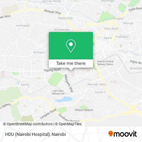 HDU (Nairobi Hospital) map
