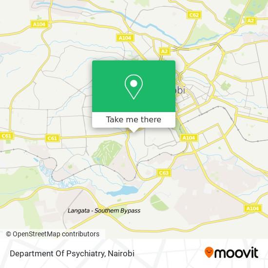 Department Of Psychiatry map