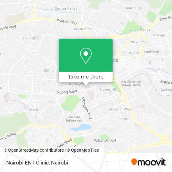 Nairobi ENT Clinic map