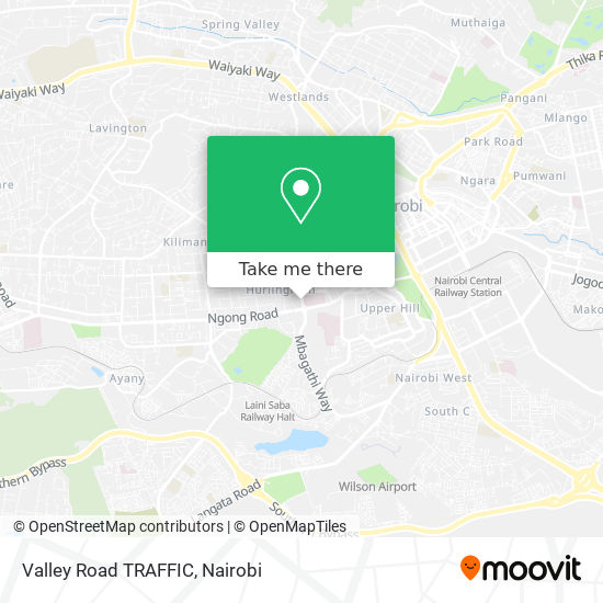 Valley Road TRAFFIC map