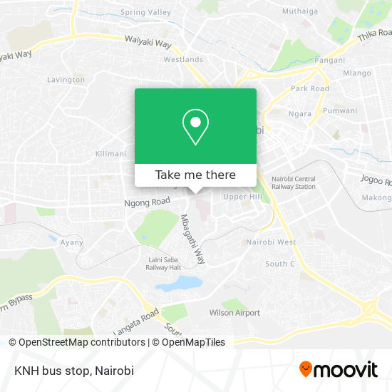 KNH bus stop map