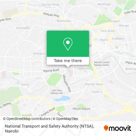 National Transport and Safety Authority (NTSA) map