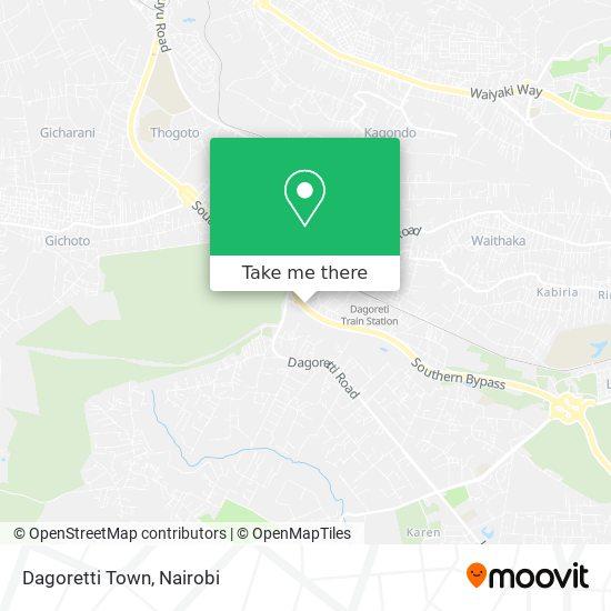 Dagoretti Town map