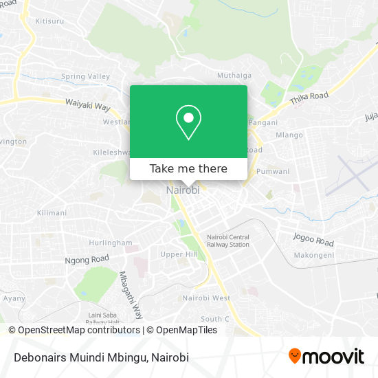 Debonairs Muindi Mbingu map