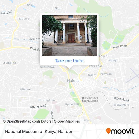 National Museum of Kenya map
