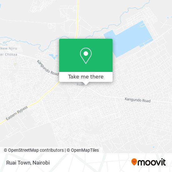 Ruai Town map