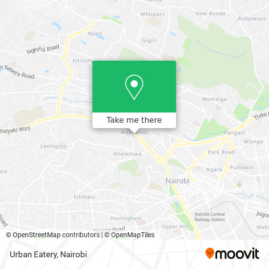 Urban Eatery map