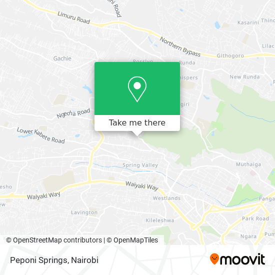 Peponi Springs map