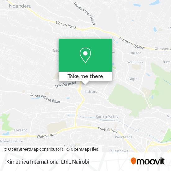 Kimetrica International Ltd. map