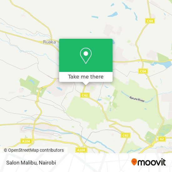 Salon Malibu map