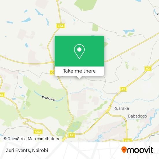 Zuri Events map