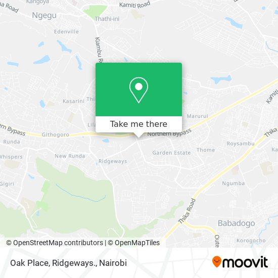 Oak Place, Ridgeways. map