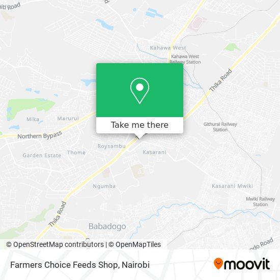 Farmers Choice Feeds Shop map