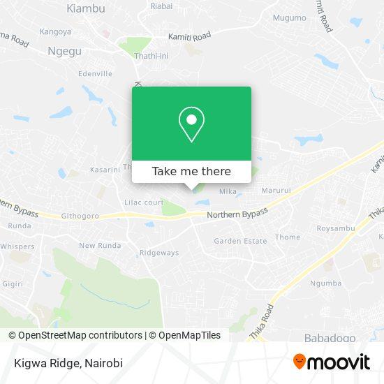 Kigwa Ridge map