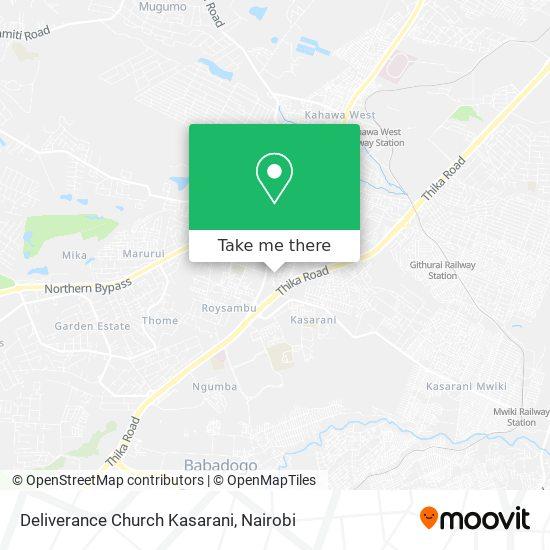 Deliverance Church Kasarani map