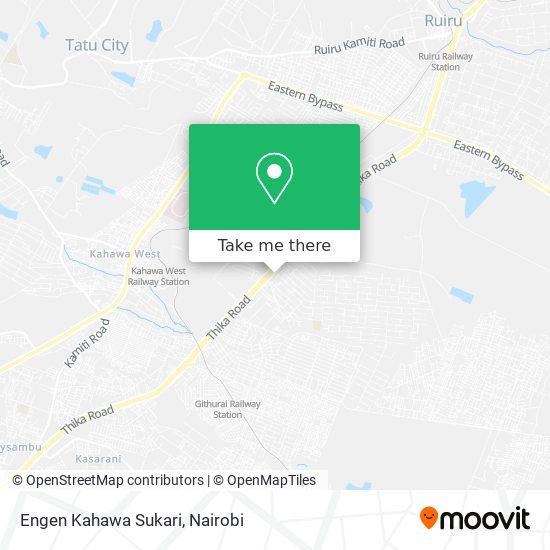 Engen Kahawa Sukari map