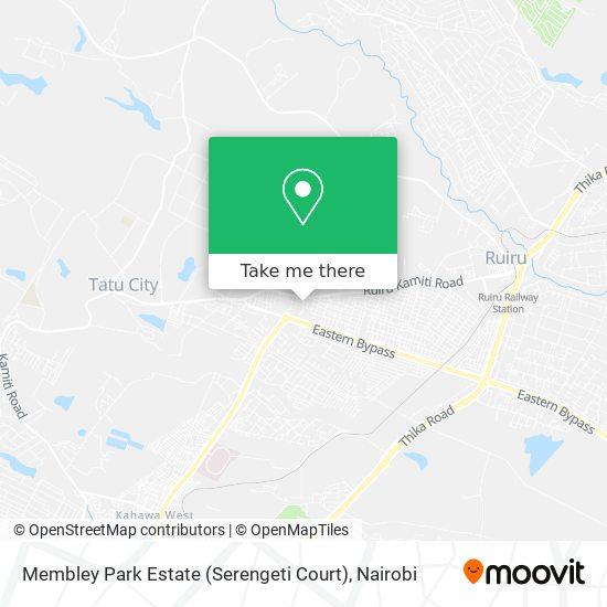 Membley Park Estate (Serengeti Court) map