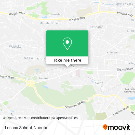 Lenana School map