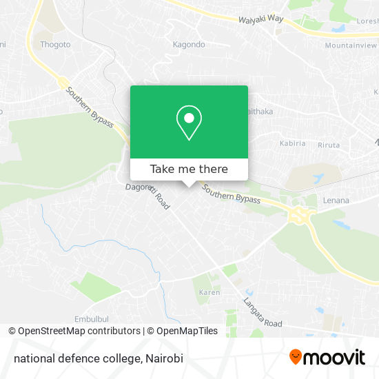 national defence college map