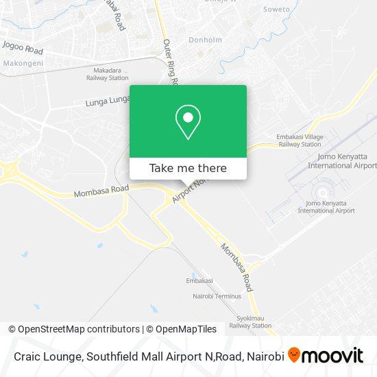 Craic Lounge, Southfield Mall Airport N,Road map
