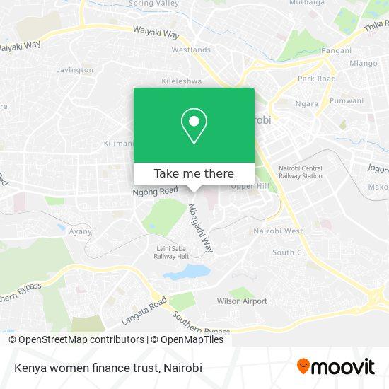 Kenya women finance trust map