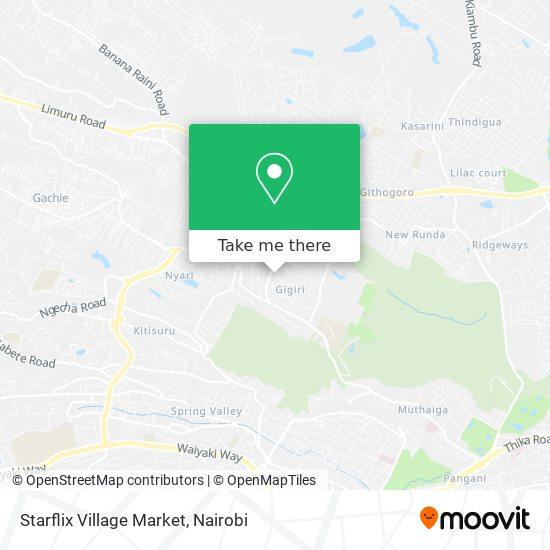 Starflix Village Market map