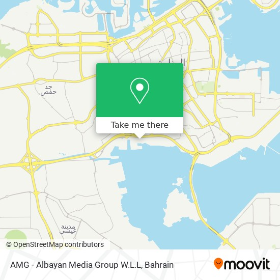AMG - Albayan Media Group W.L.L map