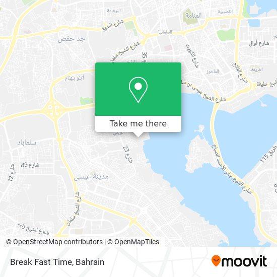 Break Fast Time map