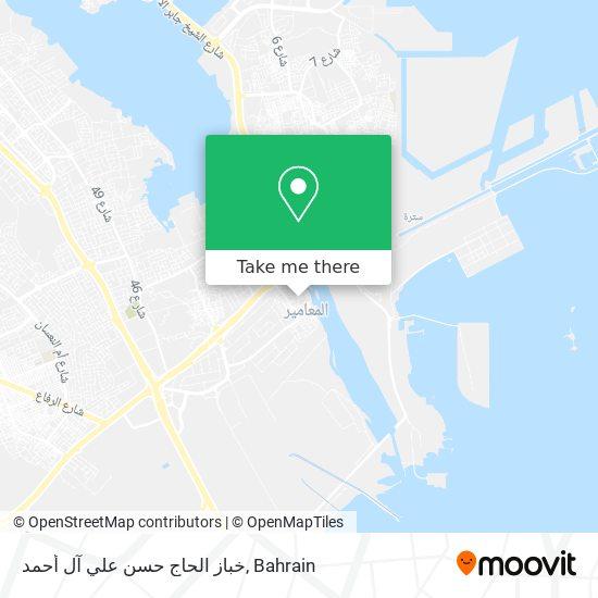 خباز الحاج حسن علي آل أحمد map