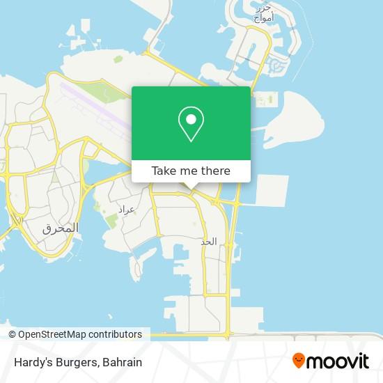 Hardy's Burgers map