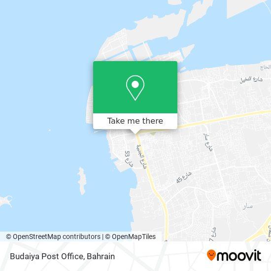 Budaiya Post Office map