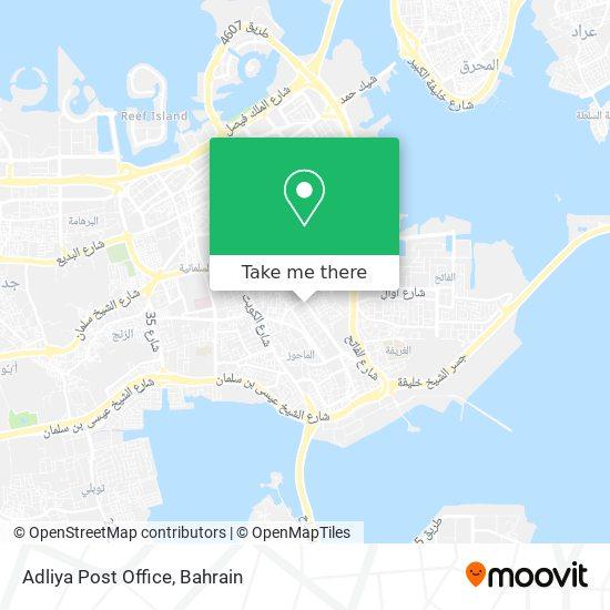 Adliya Post Office map