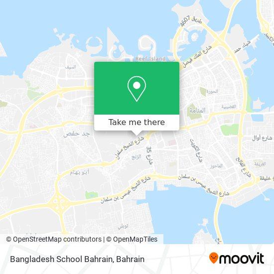 Bangladesh School Bahrain map