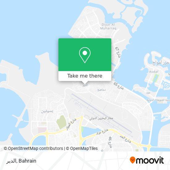 Al Dair map