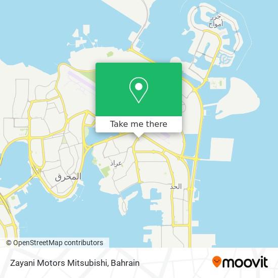 Zayani Motors Mitsubishi map
