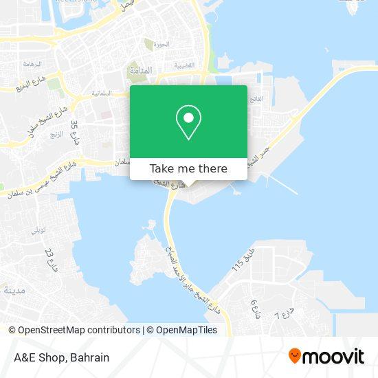A&E Shop map