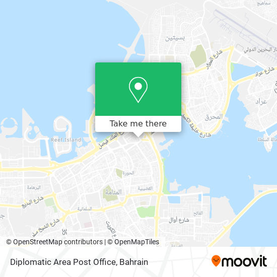 Diplomatic Area Post Office map