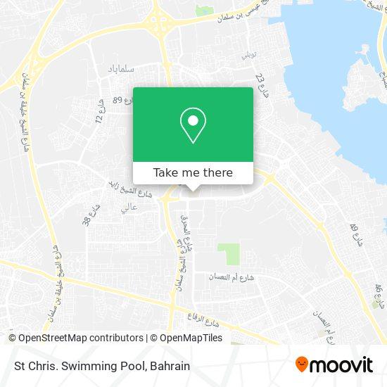 St Chris. Swimming Pool map