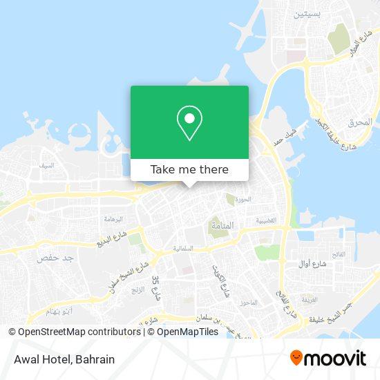 Awal Hotel map