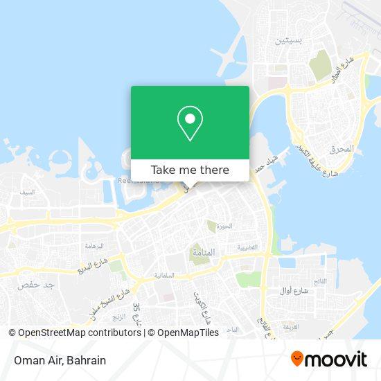 Oman Air map