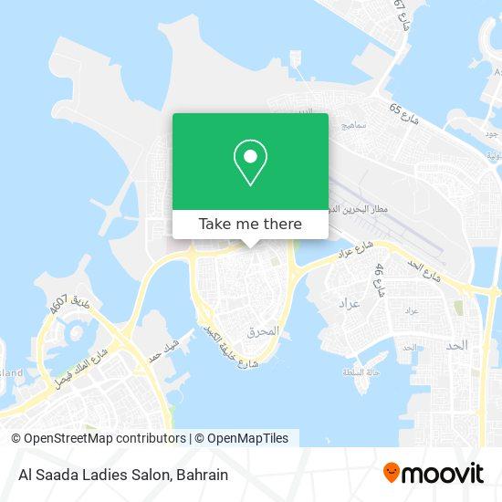 Al Saada Ladies Salon map