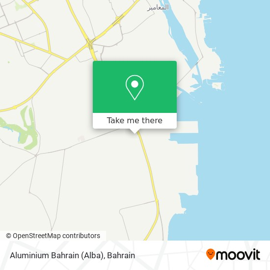 Aluminium Bahrain (Alba) map