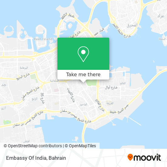 Embassy Of India map