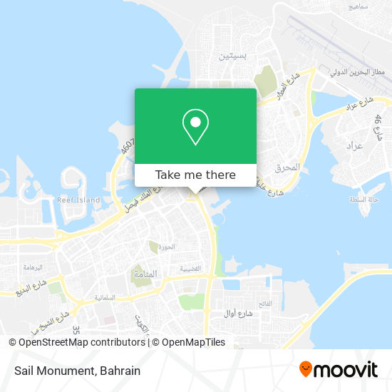 Sail Monument map