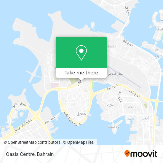 Oasis Centre map