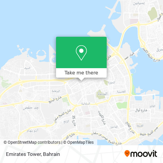 Emirates Tower map