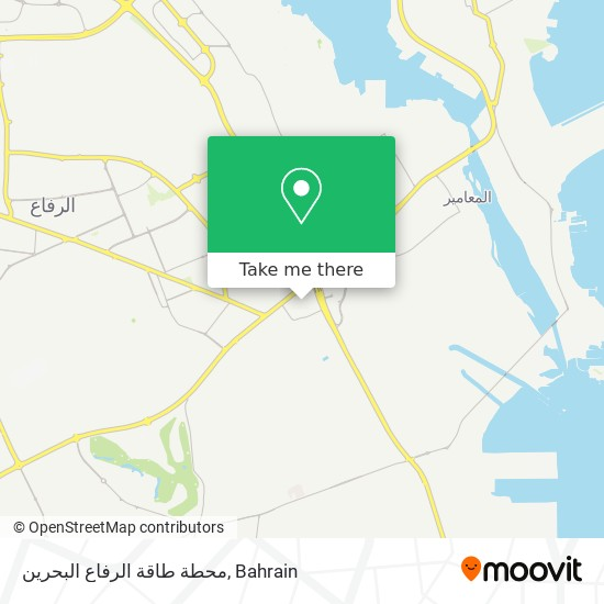 Rifaa Gas Power Station Bahrain map