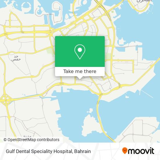 Gulf Dental Speciality Hospital map