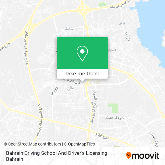 Bahrain Driving School And Driver's Licensing map