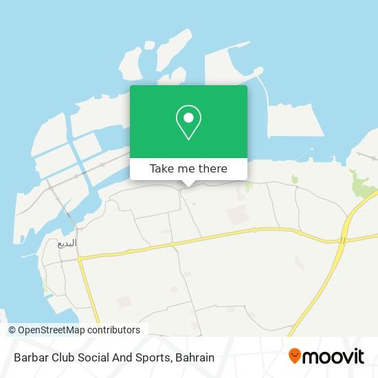 Barbar Club Social And Sports map